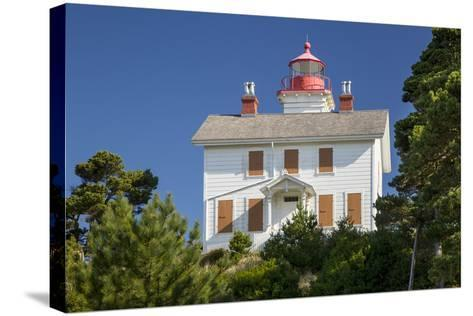 Yaquina Bay Lighthouse, Newport, Oregon, USA-Brian Jannsen-Stretched Canvas Print