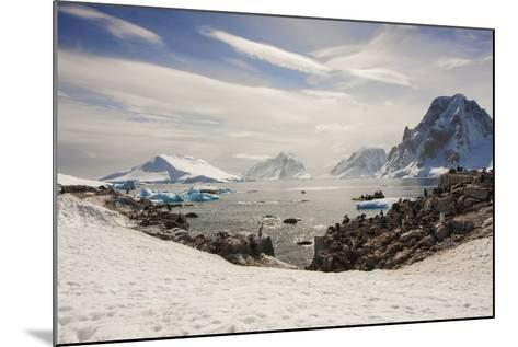 Lemaire Channel, Antarctica. Kayaking, Penguins, and Blue-Eyed Shags-Janet Muir-Mounted Photographic Print