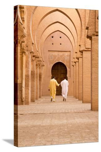 Morocco, Marrakech, Tinmal. Men Walking to the Great Mosque of Tinmal-Emily Wilson-Stretched Canvas Print