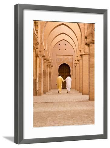 Morocco, Marrakech, Tinmal. Men Walking to the Great Mosque of Tinmal-Emily Wilson-Framed Art Print