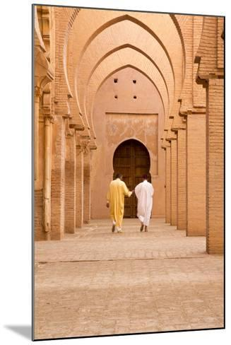 Morocco, Marrakech, Tinmal. Men Walking to the Great Mosque of Tinmal-Emily Wilson-Mounted Photographic Print