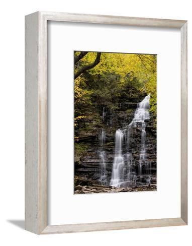 USA, Pennsylvania, Benton. Waterfall in Ricketts Glen State Park-Jay O'brien-Framed Art Print