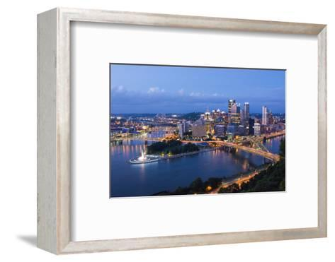 Pittsburgh, Pennsylvania, Skyline from Mt Washington of Downtown City-Bill Bachmann-Framed Art Print