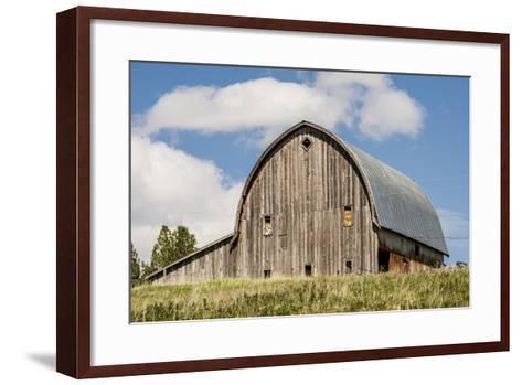 Idaho, Columbia River Basin, Camas Prairie, Old Barn-Alison Jones-Framed Art Print