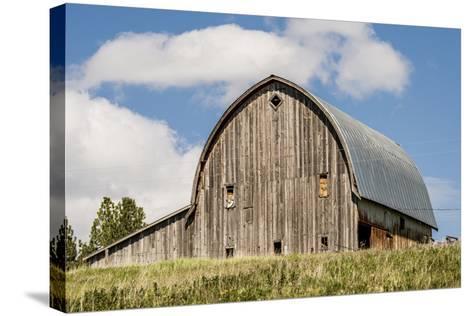 Idaho, Columbia River Basin, Camas Prairie, Old Barn-Alison Jones-Stretched Canvas Print