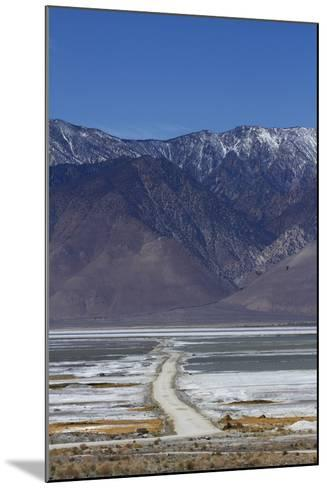 Road across Owens Lake and Sierra Nevada Mountains, California-David Wall-Mounted Photographic Print