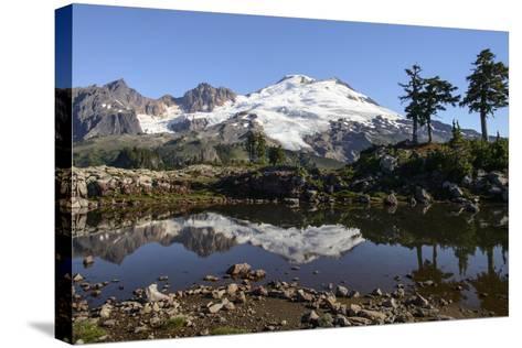 North Cascades, Washington. Mt. Baker and Reflection, on Park Butte-Matt Freedman-Stretched Canvas Print