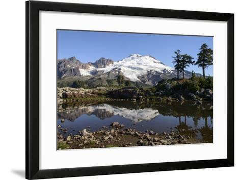North Cascades, Washington. Mt. Baker and Reflection, on Park Butte-Matt Freedman-Framed Art Print