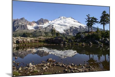 North Cascades, Washington. Mt. Baker and Reflection, on Park Butte-Matt Freedman-Mounted Photographic Print