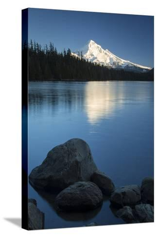Mt Hood Rises Above Lost Lake, Cascade Mountains, Oregon, USA-Brian Jannsen-Stretched Canvas Print
