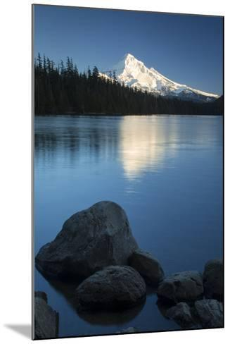 Mt Hood Rises Above Lost Lake, Cascade Mountains, Oregon, USA-Brian Jannsen-Mounted Photographic Print