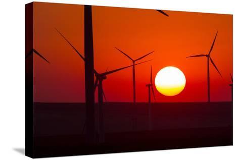 Washington, Walla Walla. Windmills. Stateline Wind Project-Brent Bergherm-Stretched Canvas Print