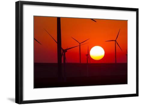 Washington, Walla Walla. Windmills. Stateline Wind Project-Brent Bergherm-Framed Art Print