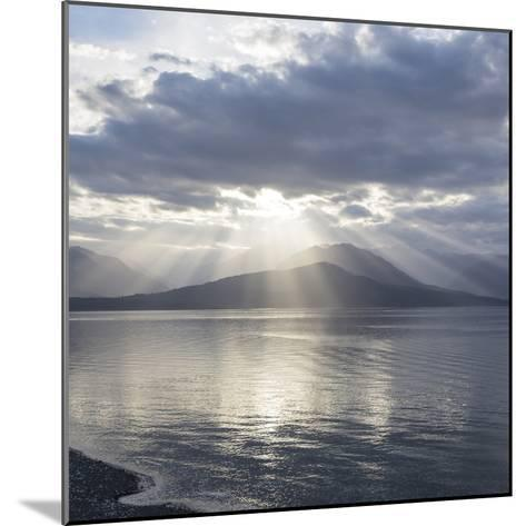 Washington State, Seabeck. Composite of God Rays over Hood Canal-Don Paulson-Mounted Photographic Print
