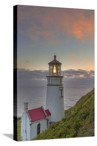 Heceta Head Lighthouse at Sunset Near Florence, Oregon, USA-Chuck Haney-Stretched Canvas Print