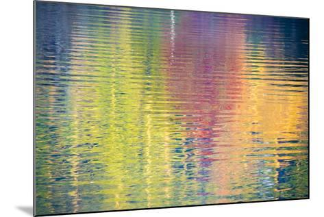 Fall Color Trees Reflected in Rippled Water-Trish Drury-Mounted Photographic Print