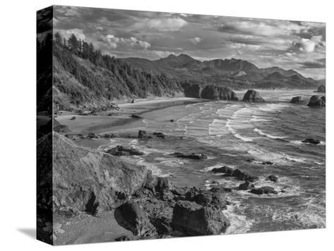 USA, Oregon, Coast Canon Beach-John Ford-Stretched Canvas Print