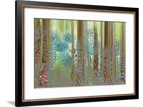 USA, Washington State, Seabeck. Collage of Pine Cones and Trees-Don Paulson-Framed Art Print