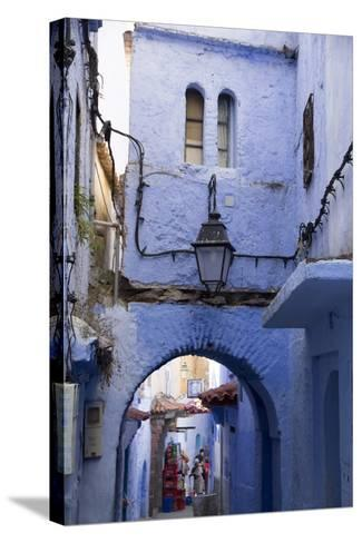Chefchaouen, Morocco. Narrow Alleyways and Stairways-Emily Wilson-Stretched Canvas Print