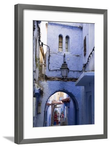 Chefchaouen, Morocco. Narrow Alleyways and Stairways-Emily Wilson-Framed Art Print