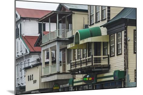 Colonial House in the Historic Center of Paramaribo (UNESCO), Suriname-Keren Su-Mounted Photographic Print