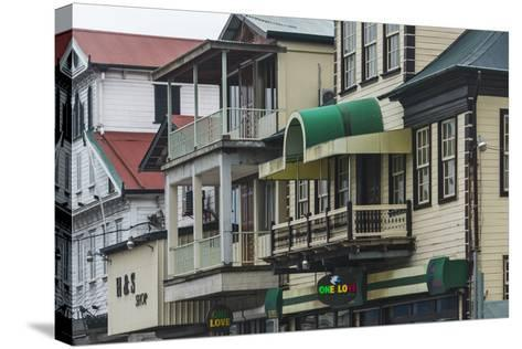 Colonial House in the Historic Center of Paramaribo (UNESCO), Suriname-Keren Su-Stretched Canvas Print