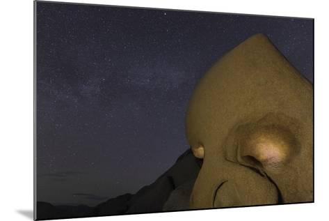 Skull Rock Lit Up at Night in Joshua Tree NP, California, USA-Chuck Haney-Mounted Photographic Print