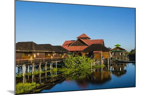 Myanmar. Shan State. Inle Lake. Golden Island Cottages Floating Hotel-Inger Hogstrom-Mounted Photographic Print