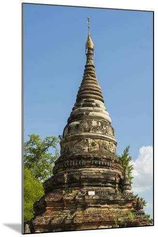 Myanmar. Mandalay. Inwa. Red Brick Stupa-Inger Hogstrom-Mounted Photographic Print