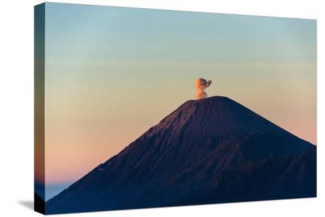 Mount Semeru at Dawn, Bromo Tengger Semeru NP, East Java, Indonesia-Keren Su-Stretched Canvas Print