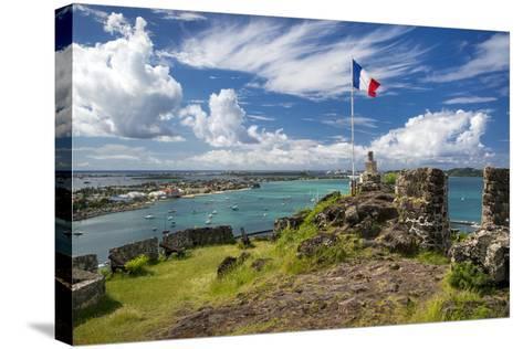 Fort Louis Overlooking Marigot Bay, Marigot, Saint Martin, West Indies-Brian Jannsen-Stretched Canvas Print