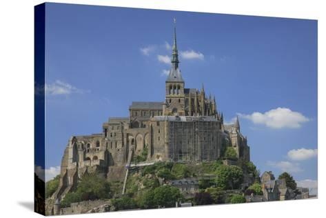 Mont Saint-Michel Is an Island Commune in Normandy, France-Mallorie Ostrowitz-Stretched Canvas Print