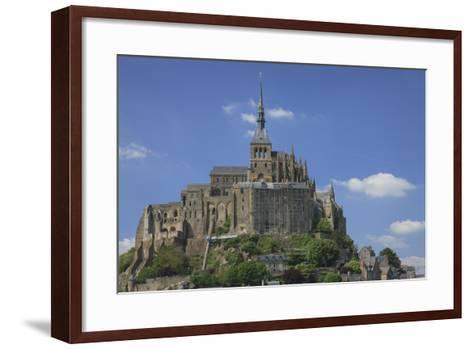 Mont Saint-Michel Is an Island Commune in Normandy, France-Mallorie Ostrowitz-Framed Art Print