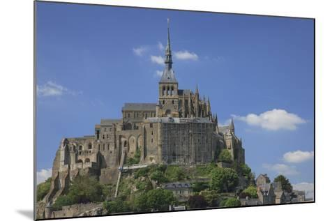 Mont Saint-Michel Is an Island Commune in Normandy, France-Mallorie Ostrowitz-Mounted Photographic Print