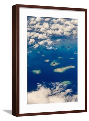 Aerial View of Islands in the Ocean, Indonesia-Keren Su-Framed Art Print