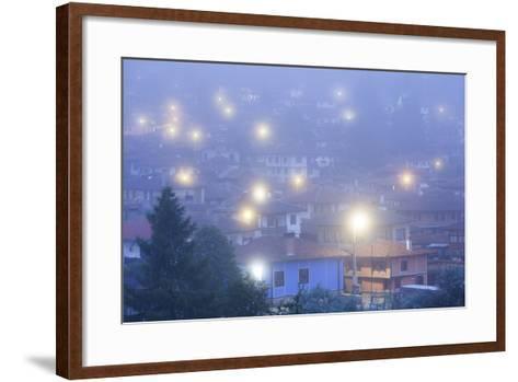 Bulgaria, Central Mountains, Koprivshtitsa, Village in Morning Fog-Walter Bibikow-Framed Art Print