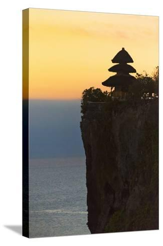 Uluwatu Temple on the Cliff, Bali Island, Indonesia-Keren Su-Stretched Canvas Print
