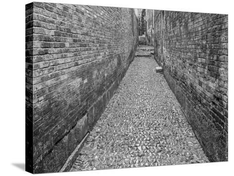 China, Ming Village Street-John Ford-Stretched Canvas Print