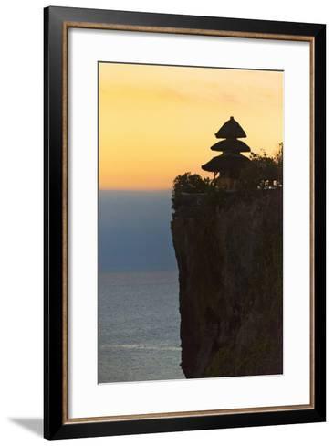 Uluwatu Temple on the Cliff, Bali Island, Indonesia-Keren Su-Framed Art Print
