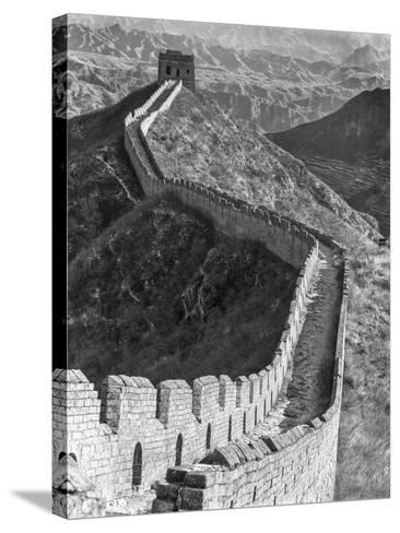 China, Great Wall-John Ford-Stretched Canvas Print