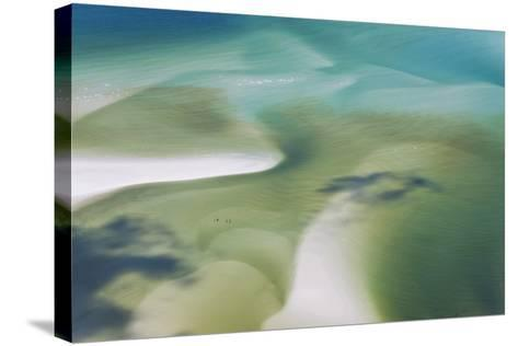 Sea and Fresh Water Covering Beach, Hill Inlet, Queensland, Australia-Peter Adams-Stretched Canvas Print