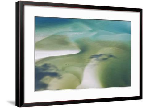Sea and Fresh Water Covering Beach, Hill Inlet, Queensland, Australia-Peter Adams-Framed Art Print