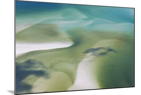 Sea and Fresh Water Covering Beach, Hill Inlet, Queensland, Australia-Peter Adams-Mounted Photographic Print