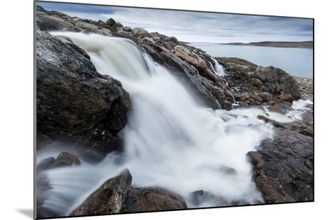 Canada, Nunavut, Territory, Hudson Bay, Blurred Image of Rushing River-Paul Souders-Mounted Photographic Print