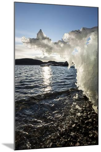 Canada, Nunavut Territory, Sunset Lights Melting Iceberg in Hudson Bay-Paul Souders-Mounted Photographic Print