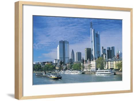 River Main, Frankfurt, Germany-Peter Adams-Framed Art Print