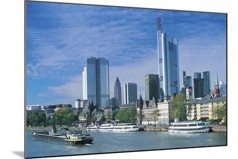 River Main, Frankfurt, Germany-Peter Adams-Mounted Photographic Print