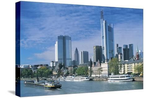 River Main, Frankfurt, Germany-Peter Adams-Stretched Canvas Print
