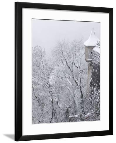 Austria, Salzburg. Part of Salzburg Castle Wall in the Winter-Bill Young-Framed Art Print