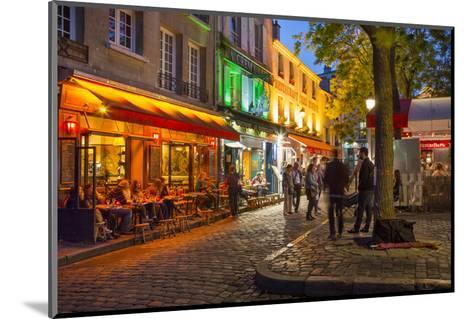 Evening Scene in Place Du Tertre, Montmartre, Paris, France-Brian Jannsen-Mounted Photographic Print